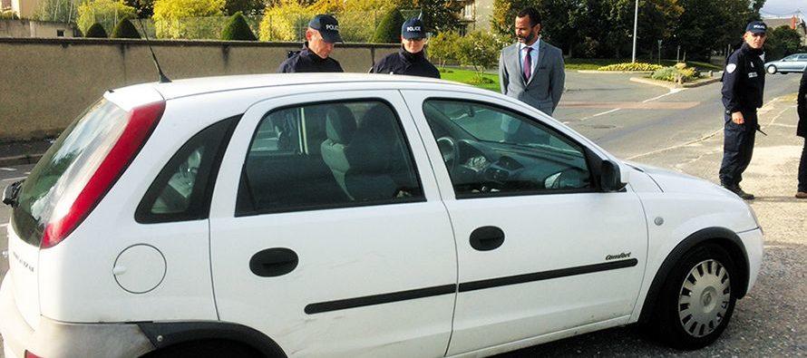 Contrôle de police en présence du nouveau sous-préfet