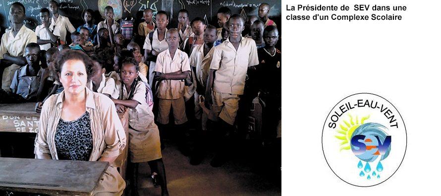 Soleil-Eau-Vent a réalisé son projet d'électrification de cinq complexes scolaires au Bénin en octobre