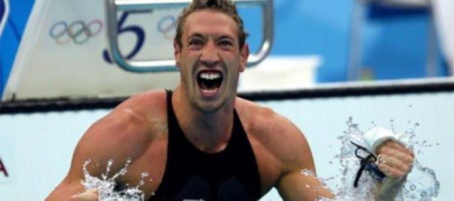 Venue d'Alain Bernard, champion olympique et champion du monde de natation