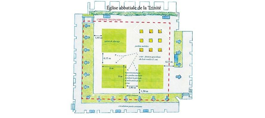 Vendôme : Un nouveau projet pour la cour du Cloître dès cet été.