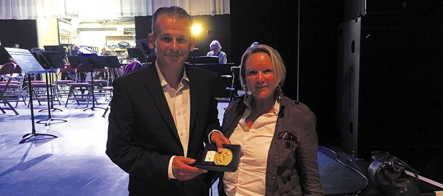 La médaille d'or du Département à Dominique Baran
