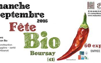 25ème Fête Bio à Boursay : dimanche 11 septembre