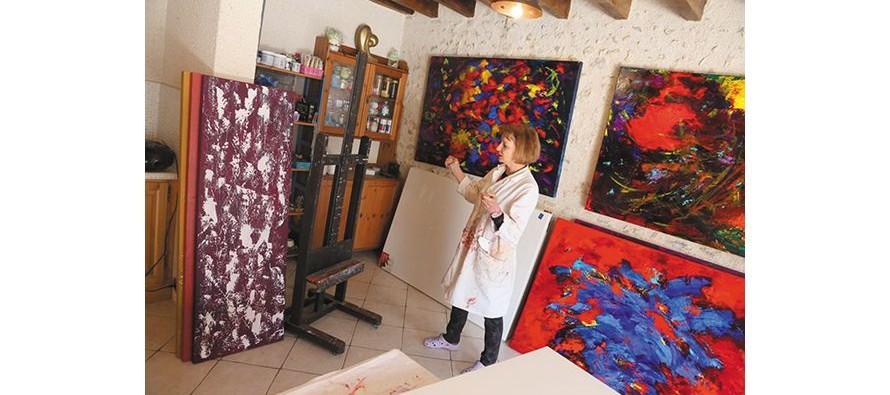 Josy, peintre parisienne à la campagne
