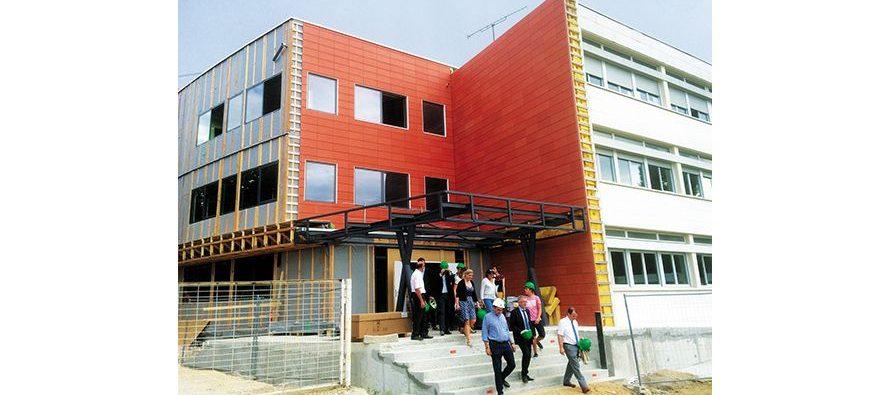 Visite de chantier  au lycée agricole d'Areines