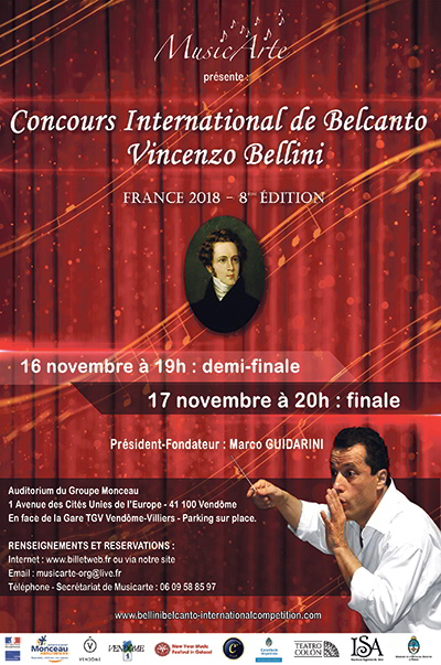 Vincenzo Bellini ; Belcanto ; Concours International de Belcanto