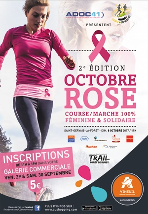 Octobre rose ; course rose