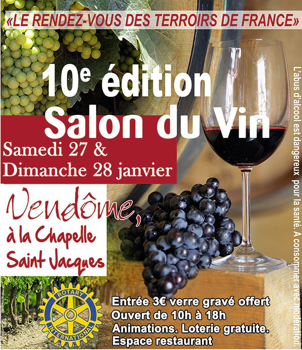 Salon du vin ; Rotary club ; Rotary club de Vendôme ; chapelle Saint-Jacques