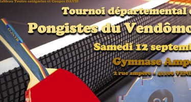Tournoi Départemental de Tennis de Table