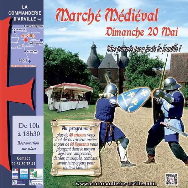 Commanderie d'Arville ; Commanderie ; marché médiéval : Arville