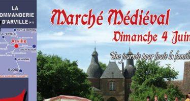 Marché médiéval à Arville