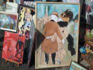 Puces, antiquités et artistes à la fête