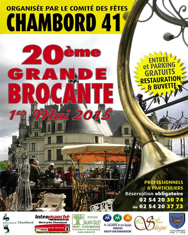 20e grande brocante de Chambord mai 2015