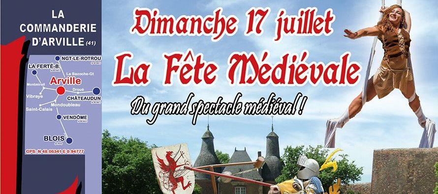 9e édition de la Fête médiévale de la Commanderie d'Arville : Dimanche 17 juillet
