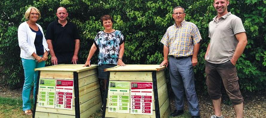 Mise en place du compostage au camping de Thoré la Rochette