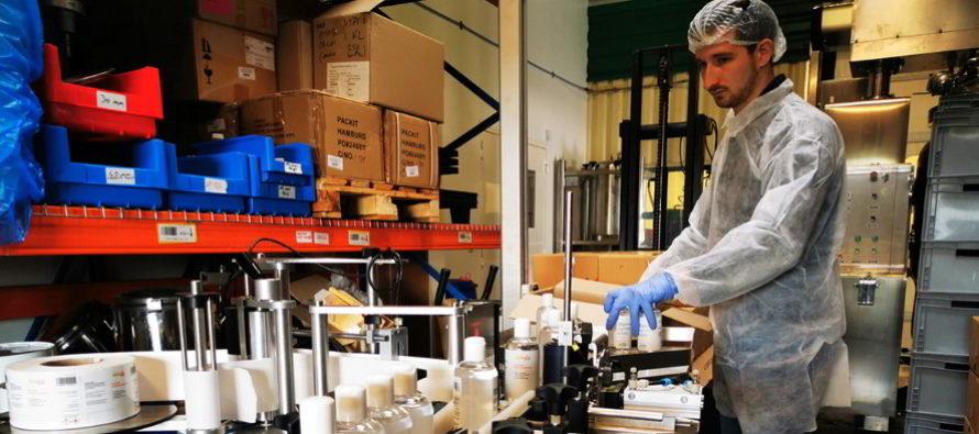 Focus sur la production de solution hydroalcoolique