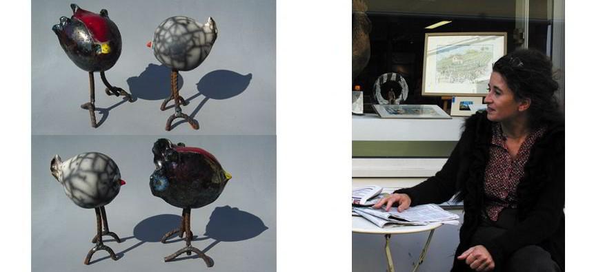 Peintures et sculptures en fin d'année à la galerie Marie.Liesse.Galerie