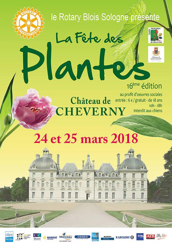 Fête des plantes ; Rotary Club Blois-Sologne ; château de Cheverny ; Cheverny