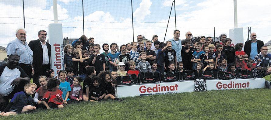 GEDIMAT, partenaire de la FFR, récompense l'USV Rugby