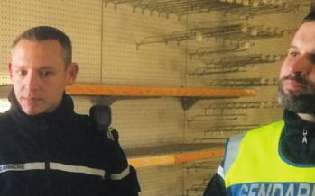 Le commandant Méchin à la tête de la compagnie de gendarmerie de Vendôme