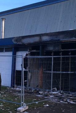 Incendie au gymnase des grands-prés dans la nuit du 15 au 16 mars
