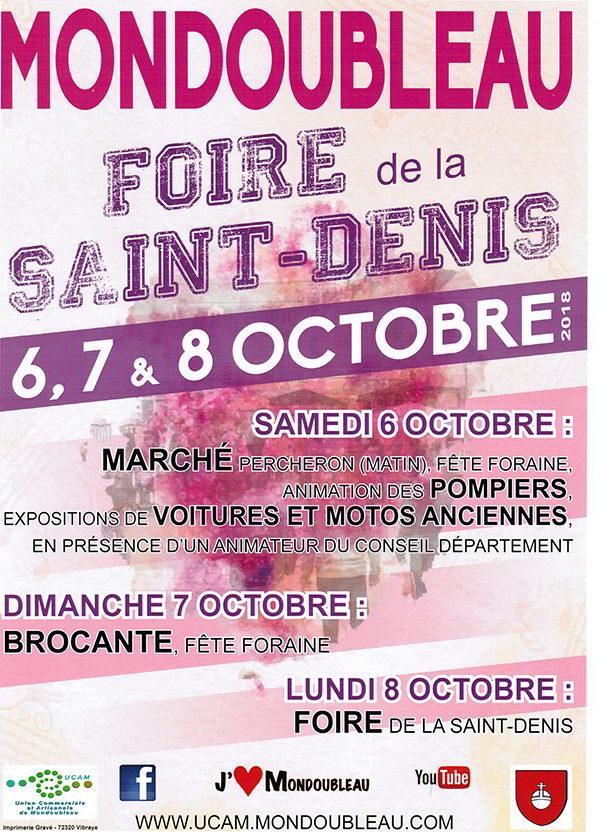 Saint-Denis ; Foire de la Saint-Denis ; Union Commerciale et Artisanale de Mondoubleau ; Mondoubleau ; UCAM