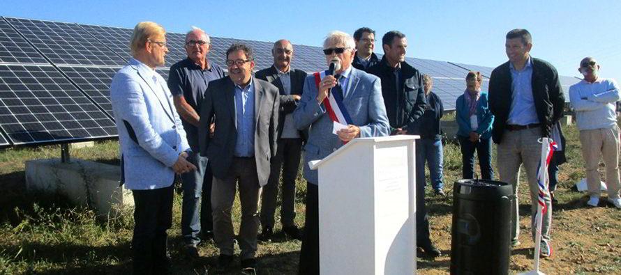 La centrale photovoltaïque des Galliennes inaugurée