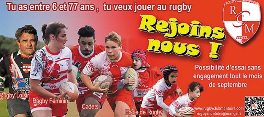 Le Rugby Club de Montoire recrute