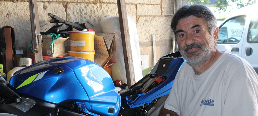 Handi-moto ; Emmanuel Berthereau ; Suzuki