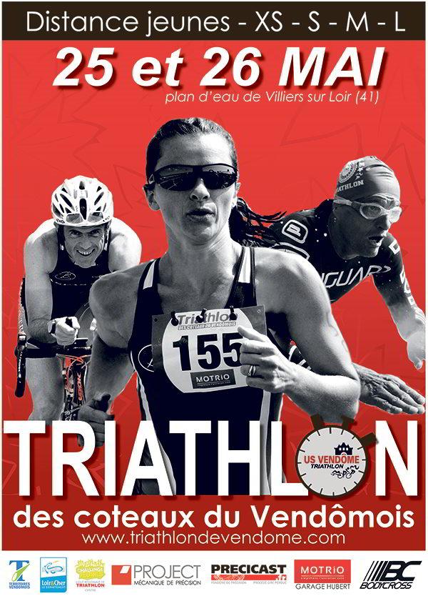 Vendôme triathlon ; Villiers ; triathlon des coteaux du Vendômois