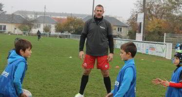 Un entrainement particulier pour l'USV Rugby