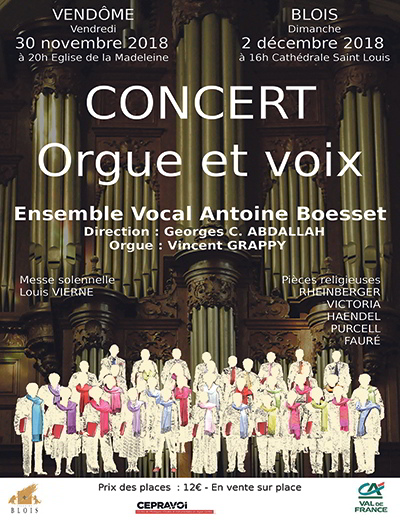 Vincent Grappy ; Antoine Boesset ; Ensemble Vocal ; orgue